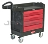 "Rubbermaid 4513-88 TradeMaster® Cart with 4 Drawer Cart - 40.63"" L x 18.38"" W x 33.38"" H - 500 lb capacity"