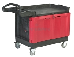 "Rubbermaid 4532-88 TradeMaster® Cart with 2-Door Cabinet, Large - 49"" L x 26.25\"" W x 38.25\"" H - 750 lb capacity"