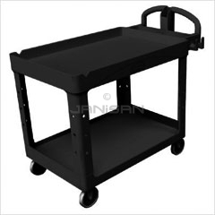 "Rubbermaid 4546 2 Shelf Utility Cart - 55"" L x 26\"" W x 33.25\"" H - 750 lb capacity"
