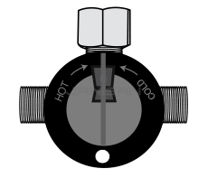Technical Concepts TC490179 Replacement Mixing Valve with Filter