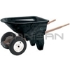 Rubbermaid 5659-61 6.5 Cu. Ft. Two-Wheel Contractor Wheelbarrow (Unassembled) - 200 lb. Capacity