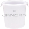 "Rubbermaid 5721 Round Storage Container - 8.5"" Dia. x 7.75"" H - 4 qt. capacity - White"