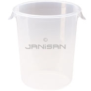"Rubbermaid 5724-24 Round Storage Container - 10"" Dia. x 10.63\"" H - 8 qt. capacity - Clear"