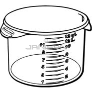 "Rubbermaid 5726-24 Round Storage Container - 13.13"" Dia. x 8.13\"" H - 12 qt. capacity - Clear"