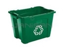 "Rubbermaid 5714-73 14 Gallon Recycling Box - 20.75"" L x 16"" W x 14.75"" H - Blue or Green in Color"