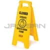 "Rubbermaid 6112-78 Floor Sign with Multi-Lingual ""Closed"" Imprint, 2-sided"