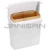 "Rubbermaid 6140 Sanitary Napkin Receptacle with Rigid Liner - 10.75"" L x 5.25"" W x 12.5"" H"