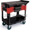 "Rubbermaid 6180 Trades Cart with 5"" Casters Includes 2 parts boxes and 4 parts bins"