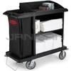 Rubbermaid 6190 Compact Housekeeping Cart with Vinyl Bag, Bumpers and Vacuum Holder