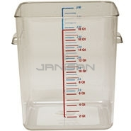 "Rubbermaid 6322 Space Saving Square Container - 11.31"" L x 10.5\"" W x 14.44\"" H - 22 Qt. Capacity - Clear"
