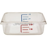 "Rubbermaid 6302 Space Saving Square Container - 8.75"" L x 8.8\"" W x 2.69\"" H - 2 Qt. Capacity - Clear"