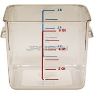 "Rubbermaid 6306 Space Saving Square Container - 8.75"" L x 8.8\"" W x 6.94\"" H - 6 Qt. Capacity - Clear"