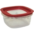 "Rubbermaid 7H77TR Premier Small Capacity Storage Container with Lid - 7.13"" Sq. x 3.56"" H - 5 cup capacity"
