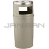 "Rubbermaid 8182-88 Ash/Trash Classic Container without Doors - 25 Gallon Capacity - 18"" Dia. x 42.25"" H - Beige in Color"