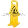 "Rubbermaid 9S09 Stable Safety Sign with ""Caution"" Imprint, English, Spanish, French"