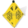 "Rubbermaid 9S01 Pop-Up Safety Cone, 30"" (76.2 cm) with Multi-Lingual ""Caution"" Imprint and Wet Floor Symbol"