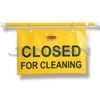 "Rubbermaid 9S15 Site Safety Hanging Sign with ""Closed for Cleaning"" Imprint - English Only"