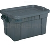 "Rubbermaid 9S31 BRUTE® Tote with Lid - 27.88"" L x 17.38"" W x 15.13"" H - 20 Gallon Capacity"