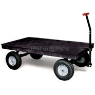 "Rubbermaid 9T06 Heavy-Duty Platform Convertible Wagon with 16"" Pneumatic Wheels - 70\"" L x 40\"" W - 3500 lb capacity"