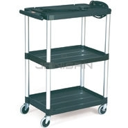 "Rubbermaid 9T30 Audio-Visual Cart, Open Cart with 3 Shelves, 4"" dia Casters - 32.5\"" L x 18.63\"" W x 42.38\"" H - 200 lb capacity - 24\"" Max TV Size"