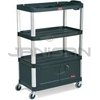 "Rubbermaid 9T35 Audio-Visual Cart, 4 Shelves with Cabinet, 4"" dia Casters - 36.5"" L x 20"" W x 48"" H - 300 lb capacity - 32"" Max TV Size"