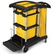 Rubbermaid 9T73 Microfiber Cleaning Cart