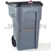 Rubbermaid 9W11-88 BRUTE® Confidential Document Rollout Container with Keyed Lock Lid - 95 Gallon Capacity