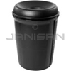 Rubbermaid 9058 Atrium® Classic Container with Funnel Top - Black in Color