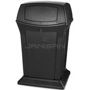 "Rubbermaid 9171-88 45 Gallon Ranger Container with 2 Doors - 24.88"" Sq. x 41.5\"" H"