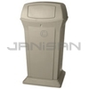 "Rubbermaid FG917500BEIG 65 Gallon Ranger Container with 2 Doors - 24.88"" Sq. x 49.25"" H - Beige in Color"