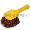 "Rubbermaid 9B28 Short Plastic Handle Utility Brush, Palmyra Fill - 8"" in Length - 2"" Trim"