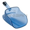 "Rubbermaid 9F50 74 oz. Scoop with Hand Guard - 12"" L x 6.7"" W x 7.7"" H - Translucent Blue in Color"