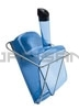 "Rubbermaid 9F51 74 oz. Scoop with Hand Guard and Holder - 12"" L x 7.5"" W x 8"" H - Translucent Blue in Color"