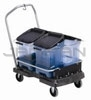"Rubbermaid 9F55 Ice Tote Cart - 21.44"" L x 5.69"" W x 39.13"" H - Black in Color"
