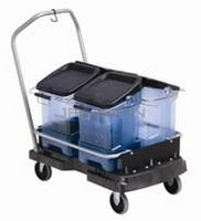 "Rubbermaid 9F55 Ice Tote Cart - 21.44"" L x 5.69\"" W x 39.13\"" H - Black in Color"