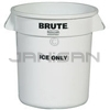 "Rubbermaid 9F86 Brute ""ICE ONLY"" Container - 10 gallon capacity - 15.63"" Dia. x 17.13"" H"