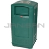 "Rubbermaid 9P91 Plaza Jr. Container with Ashtray - 35 Gallon Capacity - 21.44"" L x 20.31"" W x 41.06"" H"