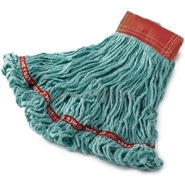 "Rubbermaid A153-06 Web Foot® Wet Mop - Large - Launderable - 5"" Headband - Looped End"