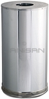 "Rubbermaid / United Receptacle CC16MC Metallic Designer Line Open Top Waste Receptacle - 15 Gallon Capacity - 15"" Dia. x 28\"" H - Mirror Chrome"