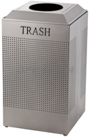 Rubbermaid / United Receptacle DCR24TSM Silhouette Recycling Receptacle - Trash - 29 Gallon Capacity - Silver Metallic
