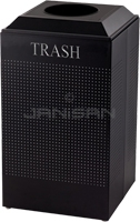 Rubbermaid / United Receptacle DCR24TTBK Silhouette Recycling Receptacle - Trash - 29 Gallon Capacity - Textured Black
