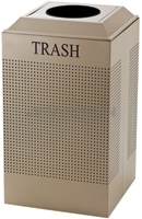 Rubbermaid / United Receptacle DCR24TDP Silhouette Recycling Receptacle - Trash - 29 Gallon Capacity - Desert Pearl