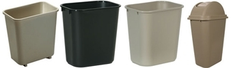 Deskside Wastebaskets & Tops
