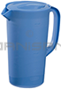 Rubbermaid 3062RD Economy Pitcher with Blue Lid - 2 1/4 Quart Capacity