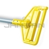 "Rubbermaid H126 Invader® Side Gate Wet Mop Handle, Large Yellow Plastic Head, Gray Aluminum Handle - 60"" Length"