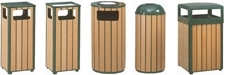 Rubbermaid / United Receptacle Howard Regent Series Garbage Cans, Trash Containers, Waste Receptacles & Sand Urns