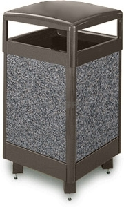 "Rubbermaid / United Receptacle R36HT Aspen Series Large Capacity Trash Receptacle - 29 Gallon Capacity - 21"" Sq. x 40\"" H"
