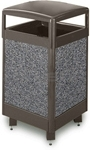 "Rubbermaid / United Receptacle R36HT Aspen Series Large Capacity Trash Receptacle - 29 Gallon Capacity - 21"" Sq. x 40"" H"