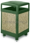 "Rubbermaid / United Receptacle R38HT Aspen Series Trash Can - 38 Gallon Capacity - 26"" Sq. x 40"" H"