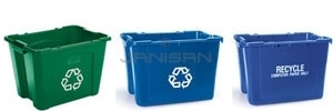 Rubbermaid Recycling Boxes